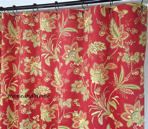 waverly fabrics curtains fabric shower curtain waverly barano vintage red by