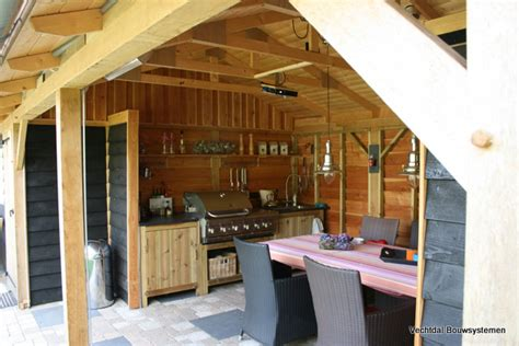 tuinhuis met buitenkeuken vechtdal bouwsystemen authentieke bijgebouwen en