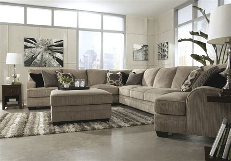 sectional with oversized ottoman pale grey microfiber sectional couch plus accent pillows
