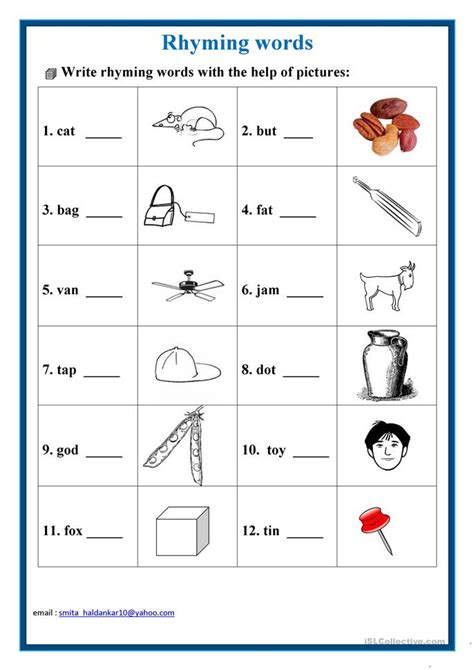 Rhyming Worksheets by Rhyming Words Quiz For Grade 2 Categories Word Lists