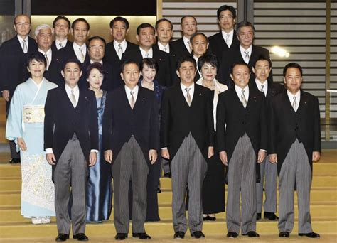 Members In Cabinet Of Prime Minister by Shinzo Abe Begins New Term As Prime Minister Launches