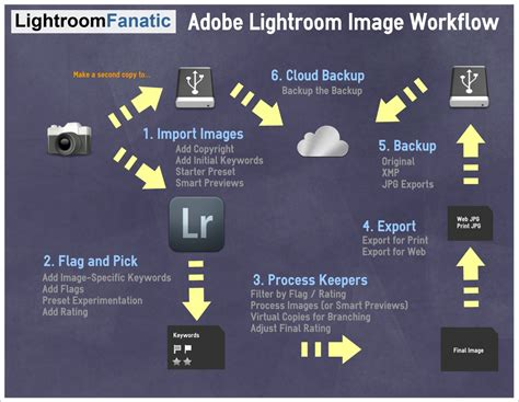 lightroom workflow adobe lightroom workflow infographic lightroom fanatic