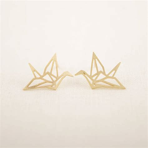 origami junk origami crane earrings by junk jewels notonthehighstreet