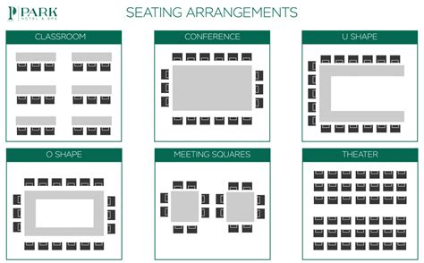 seminar seating layout conference halls park hotel spa