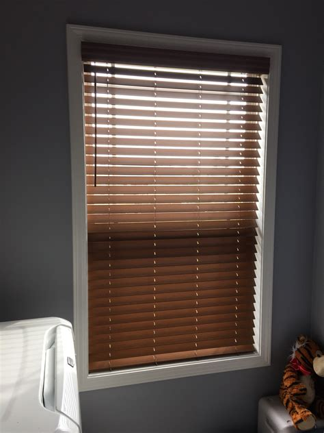 cordless wood blinds installed in clarksville