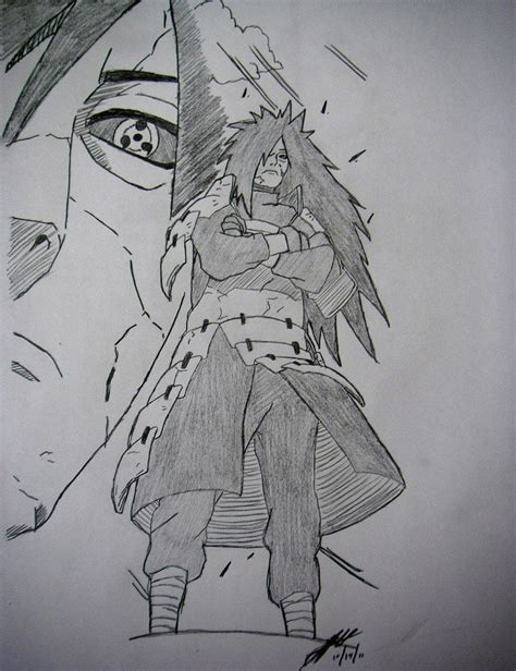 V Anime Drawing by Madara Uchiha Drawing By Thechiefassassin By