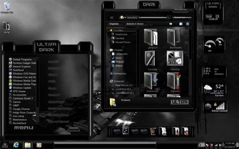themes black windows 7 black theme ultra dark windows 7 theme