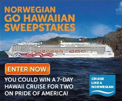 Hawaii Contests Sweepstakes - norwegian go hawaiian sweepstakes