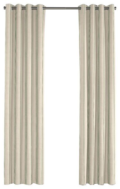 Grommet Burlap Curtains Green Burlap Style Stripe Grommet Curtain Rustic Curtains By Loom Decor