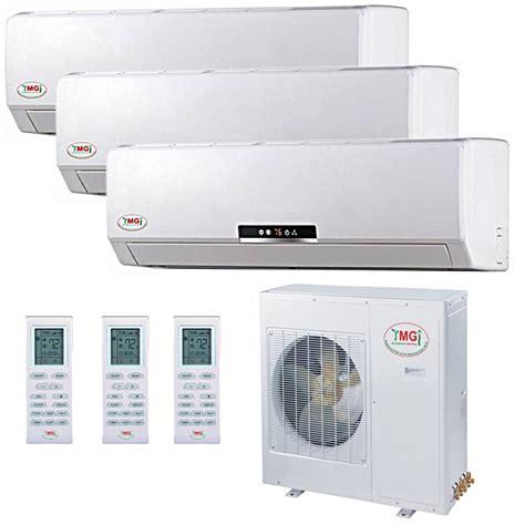 mini split air conditioners ductless mini split heat pumps 18 18 18k ymgi tri zone ductless mini split air