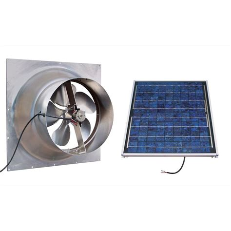 solar powered attic fan gable 20 watt solar powered attic fan safg20 ss the home
