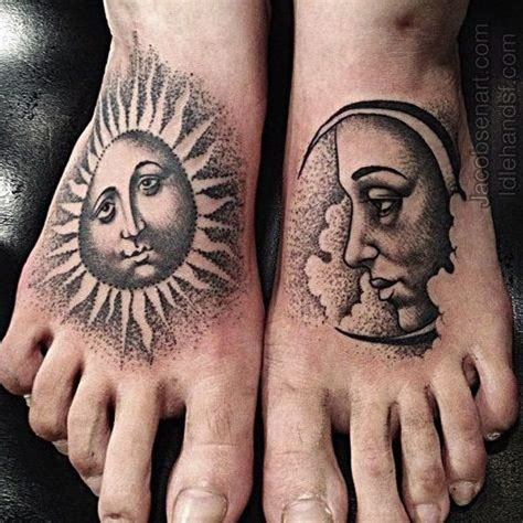 idle hands tattoo 50 best sun and moon tattoos for images on