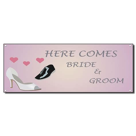 Wedding Banner Ebay by Wedding Marriage Here Comes And Groom Vinyl Banner