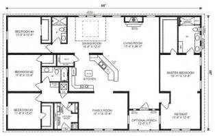 four bedroom house floor plans ranch house floor plans 4 bedroom this simple no