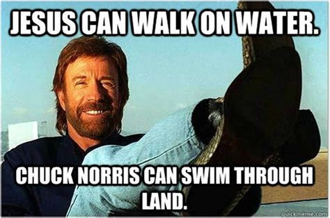 Meme Land - chuck norris swims through land best chuck norris memes