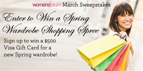 New Sweepstakes To Enter - womensforum enter to win a spring wardrobe 500 shopping