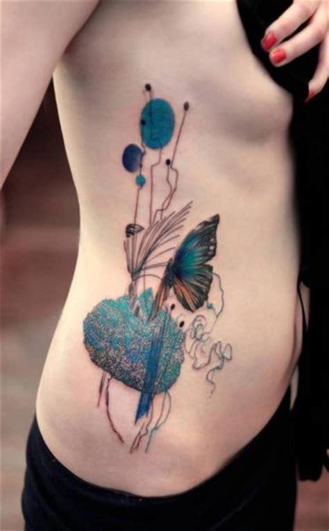 seite schmetterling abstrakt aquarell tattoo von dead