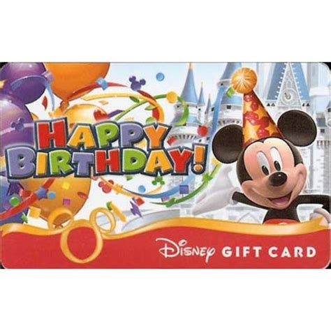 Can You Link Disney Gift Cards To Magic Band - your wdw store disney collectible gift card happy birthday mickey