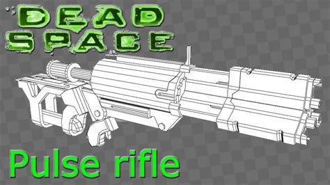 Dead Space Papercraft - dead space pulse rifle papercraft
