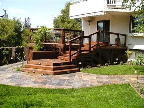 Backyard Wood Deck Ideas Deck Designs And Ideas For Backyards And Front Yards Landscaping Network