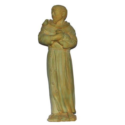cast stone st francis garden statue antique gray