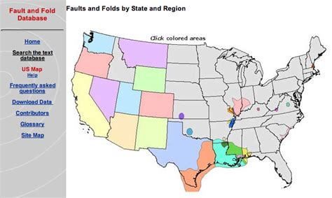 united states fault map quaternary fault and fold database for the nation