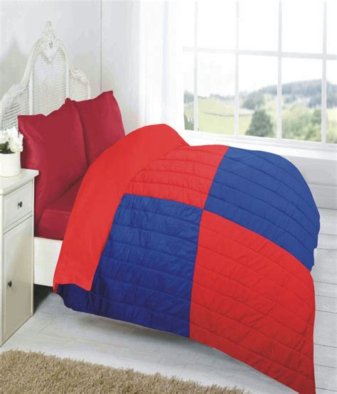 red reversible comforter fabutex reversible red blue geometrical comforter buy