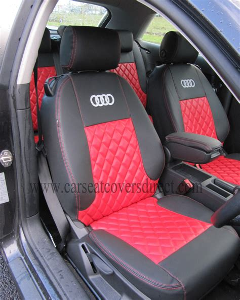 audi seat covers with logo audi a3 seat covers black with stitching