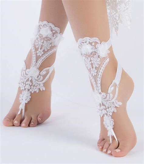 unique bridal shoes unique bridal shoes white lace barefoot sandals wedding