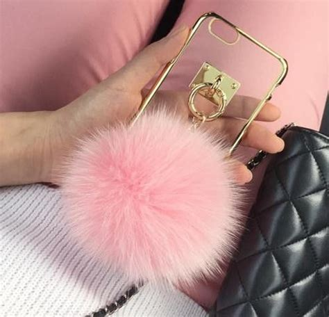 Op4536 For Iphone 6 6s Fashion Pom Pom Velvet Beludru Kode Bi 1 pom pom fur chain for iphone 6 6s 6plus 6s 5 5 inch apple iphone iphone5 iphone6