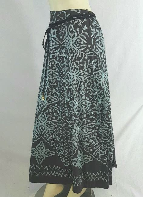 Embroidered A Line Maxi Skirt soft surroundings brown floral embroidered a line maxi