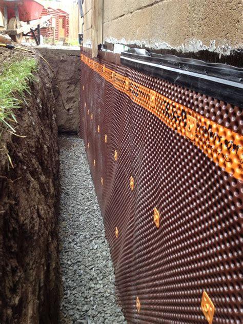 exterior basement waterproofing membrane exterior foundation waterproofing burlington hamilton