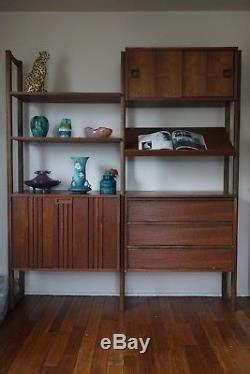 vintage mcm wall unit mid century modern danish style