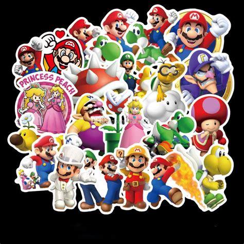 compre  unids set super mario stickers cartoon mario