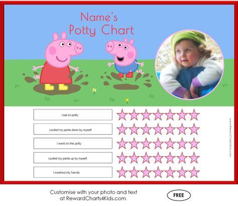 printable reward charts peppa pig peppa pig potty training charts