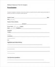 clearance for surgery template clearance form sle 7 free documents in word pdf