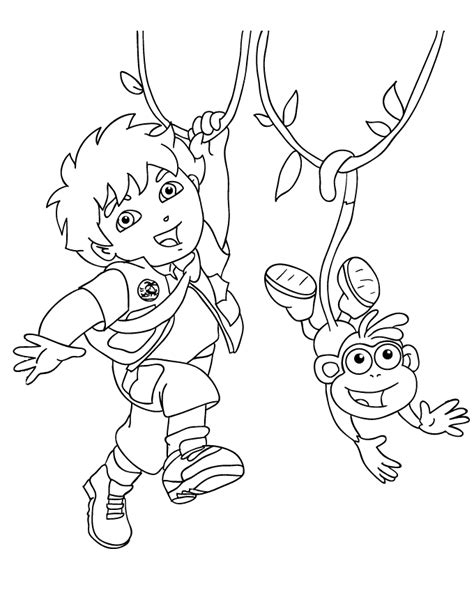 And Diego Coloring Pages free printable diego coloring pages for