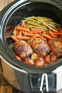 slow cooker honey garlic chicken and vegetables 60