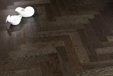 Ash grey oak herringbone hardwood flooring   Yorking Hardwood