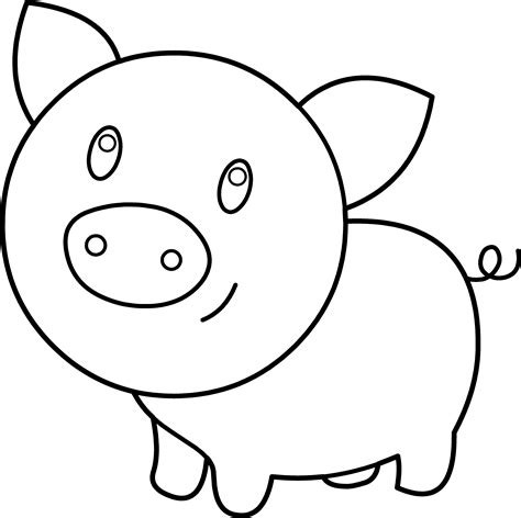 Coloring Page Pig by Pig Coloring Page Free Clip