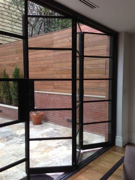 Folding Glass Doors Exterior Portella Custom Steel Doors And Windows