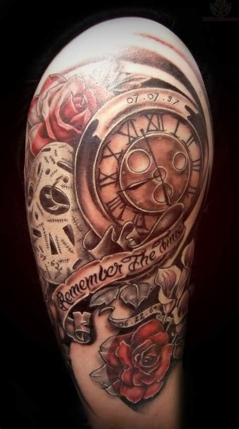 tattoos about time clock images designs