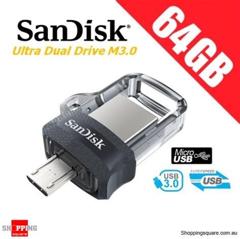sandisk ultra dual drive m3 0 64gb sddd3 usb 3 0 otg flash