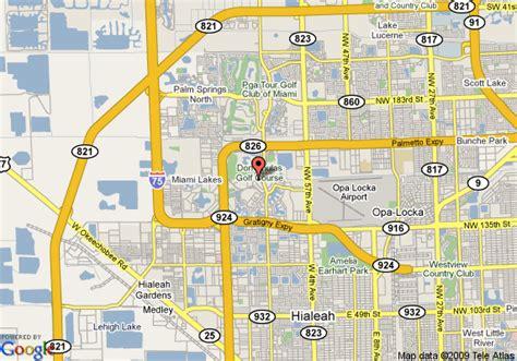 map hialeah florida map of shulas hotel and golf club hialeah