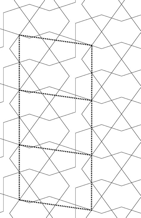unit cell pattern some patterns using specific tiles