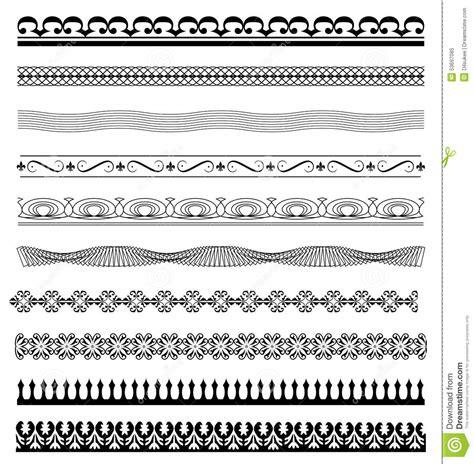 line pattern illustrator download set calligraphic line design illustrator stock vector