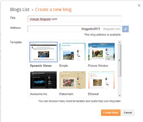 membuat blog terkenal di google buat blog gratis di google