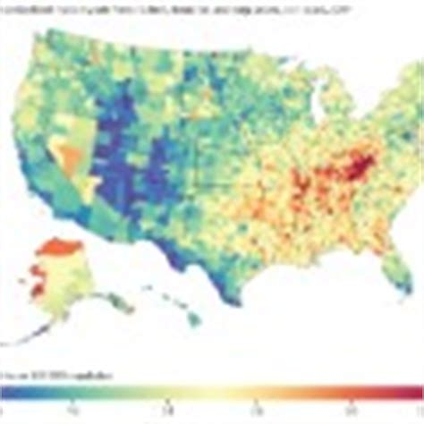 cancer cluster map california cancer nationwide but spots persist cnn