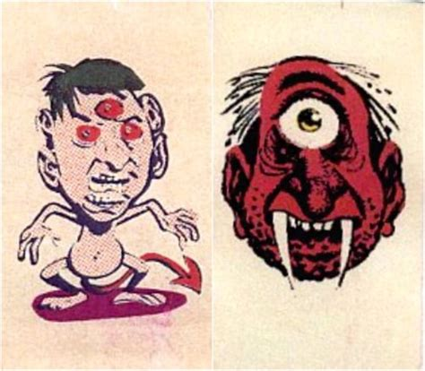 tattoo cartoon monster 350 best images about gum cards etc 2 on pinterest