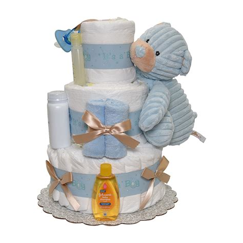 boy cord diaper cake  tiers